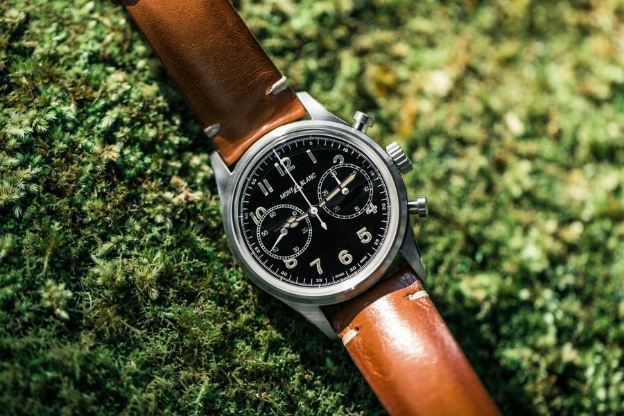 montblanc 1858 watch flat