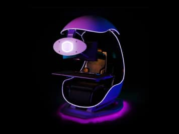 Egg-Shaped Orb X Gaming Chair Cops 3 Monitors and a Hidden Compartment