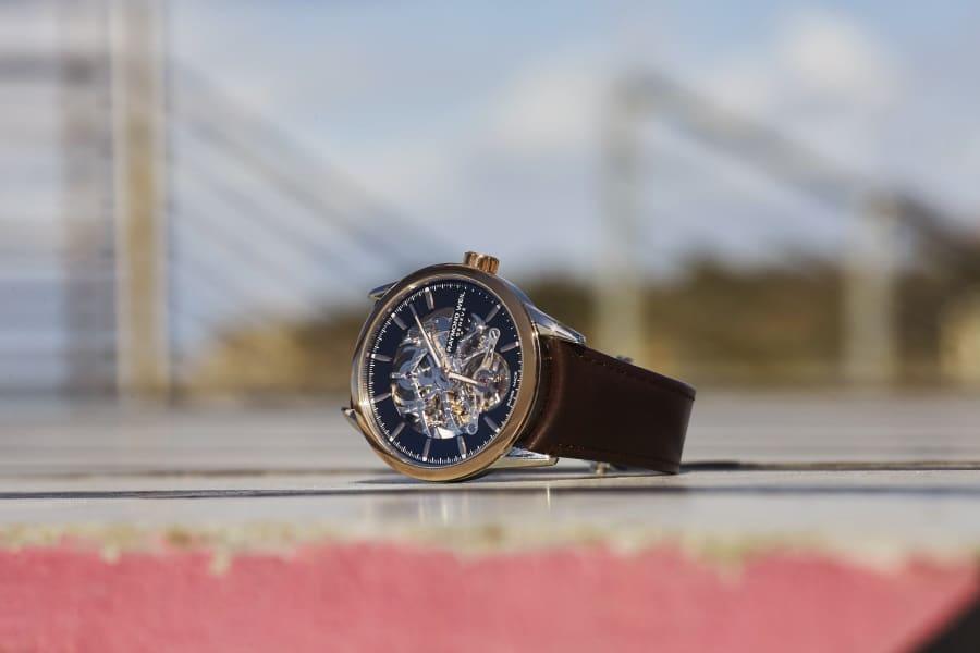 raymond weil leather belt watch