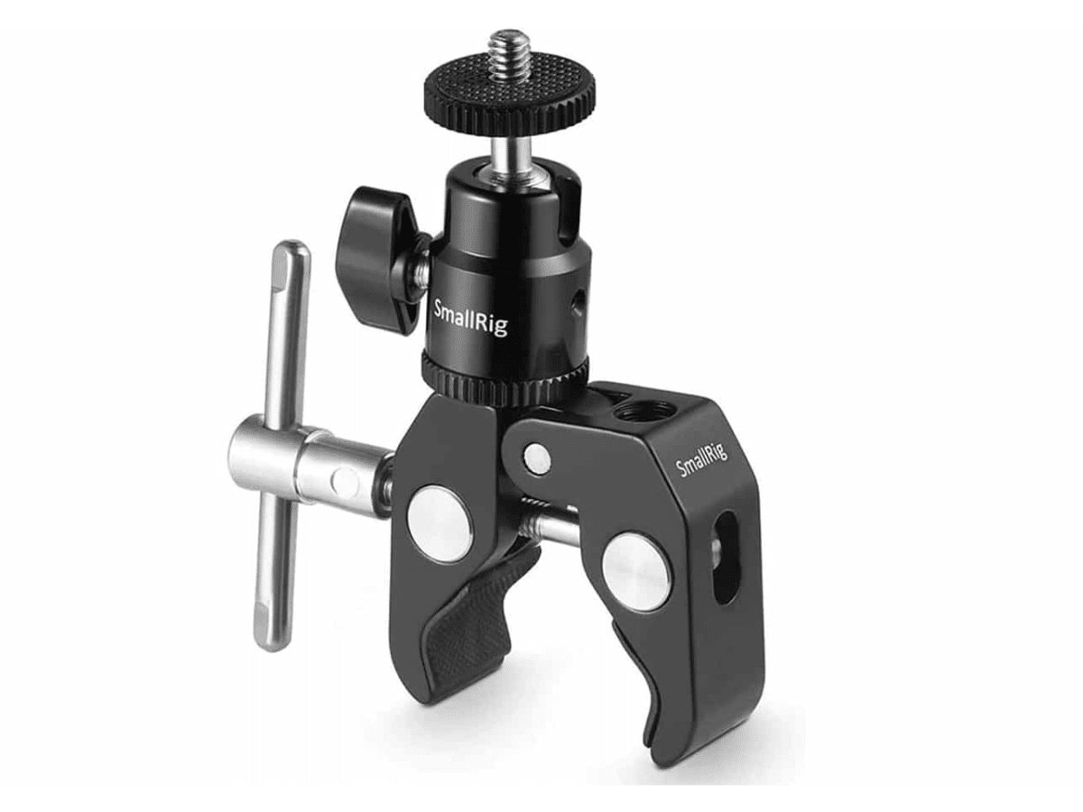 Smallrig super clamp mount with ball head mount