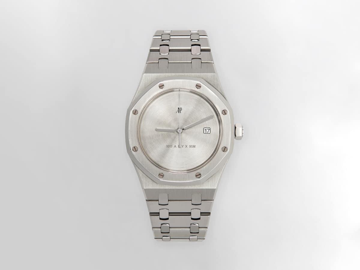Silver mad paris edition customized audemars piguet royal oak watch 6