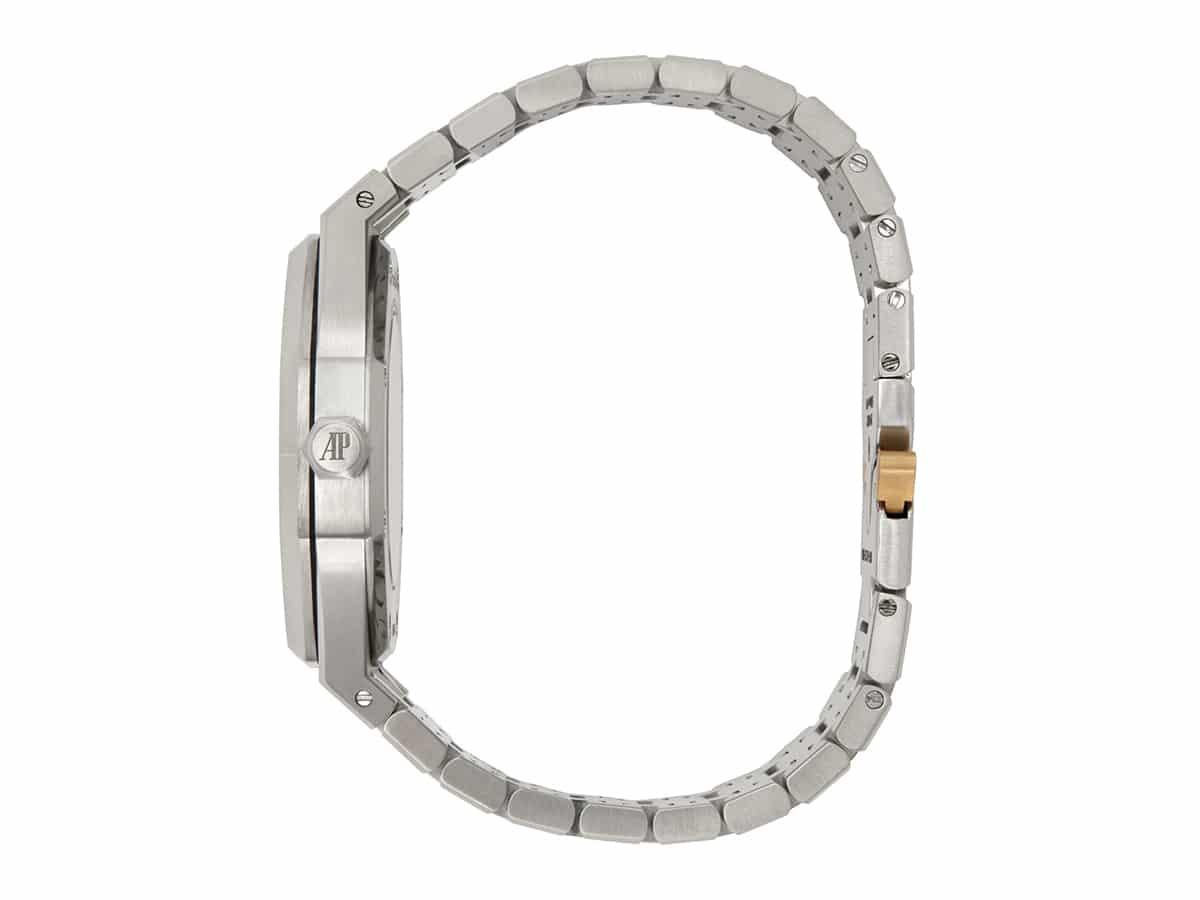 Silver mad paris edition customized audemars piguet royal oak watch