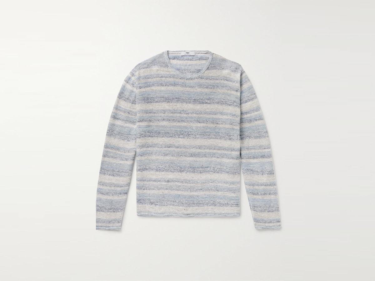 Striped linen t shirt