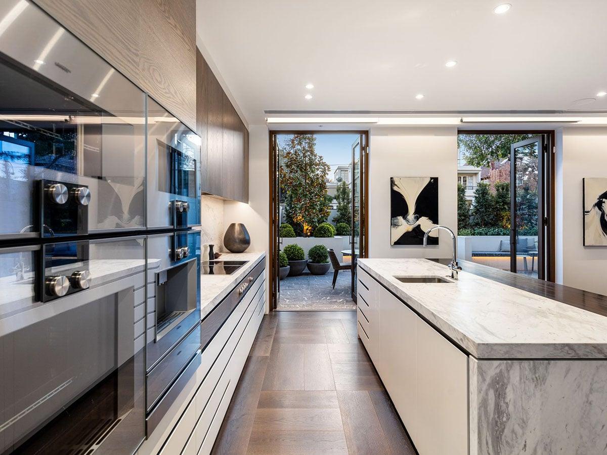 Toorak house kitchen