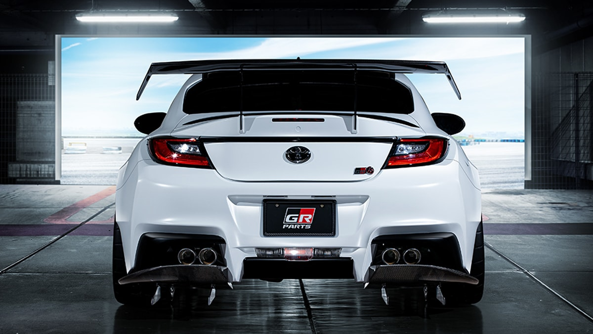 Toyota gr86 concept rear exhaust