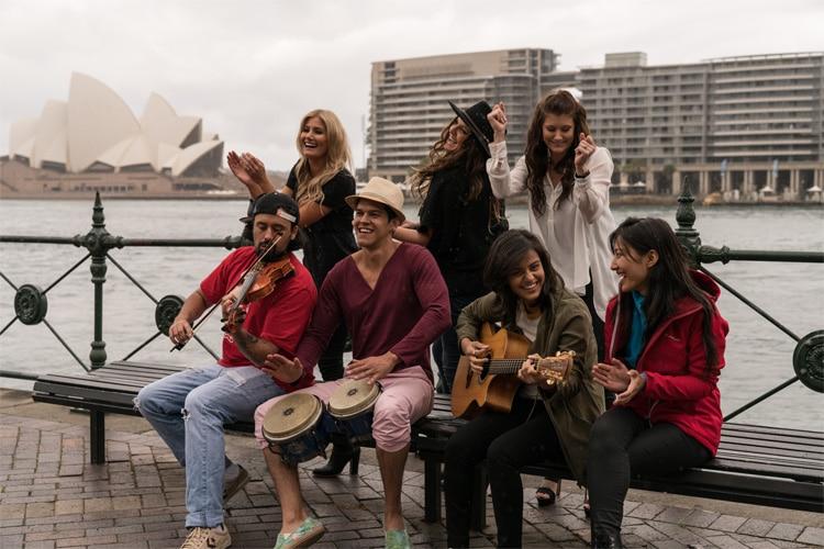 toyota global street band beside ocean