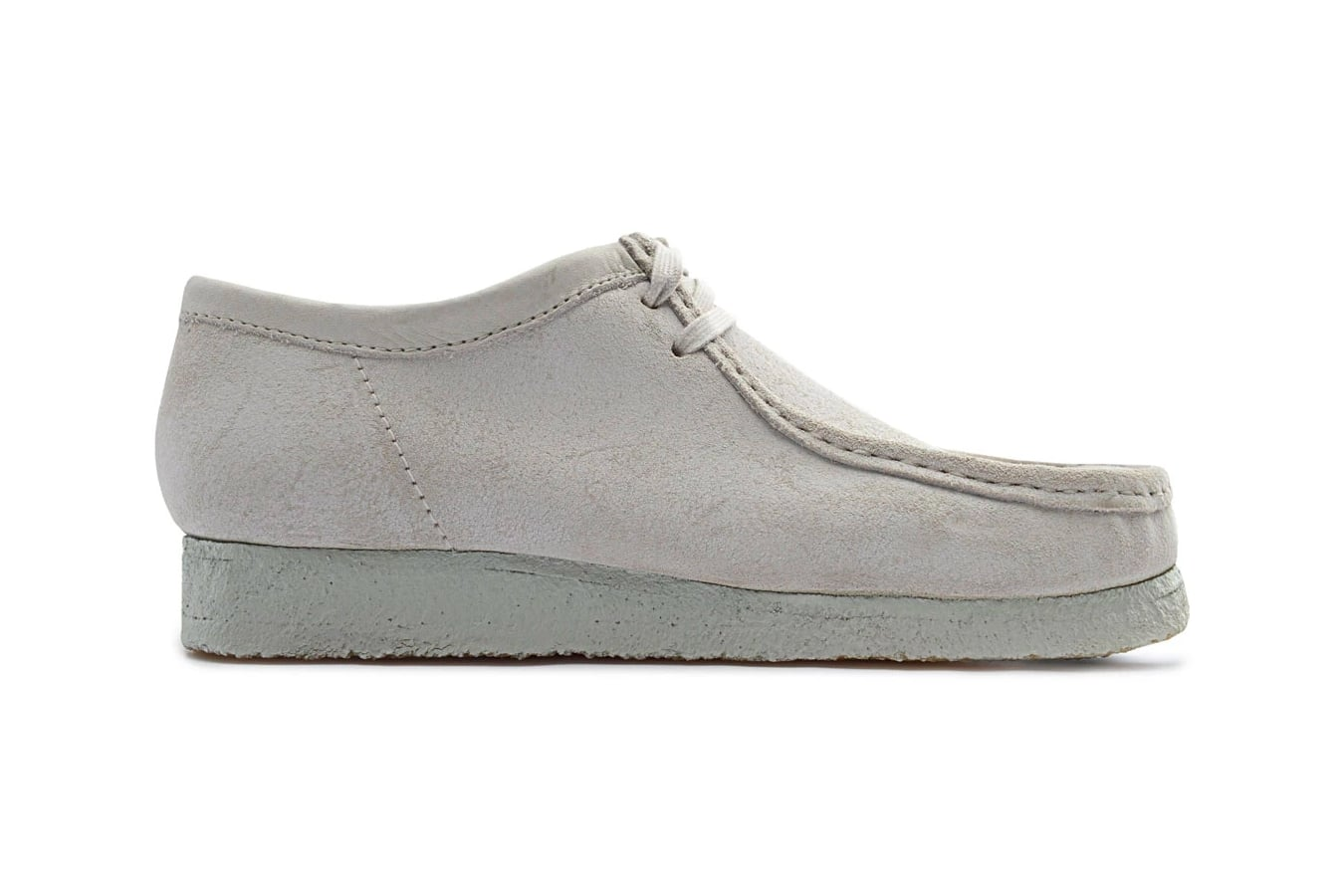 clarks wallabee white chalky suede