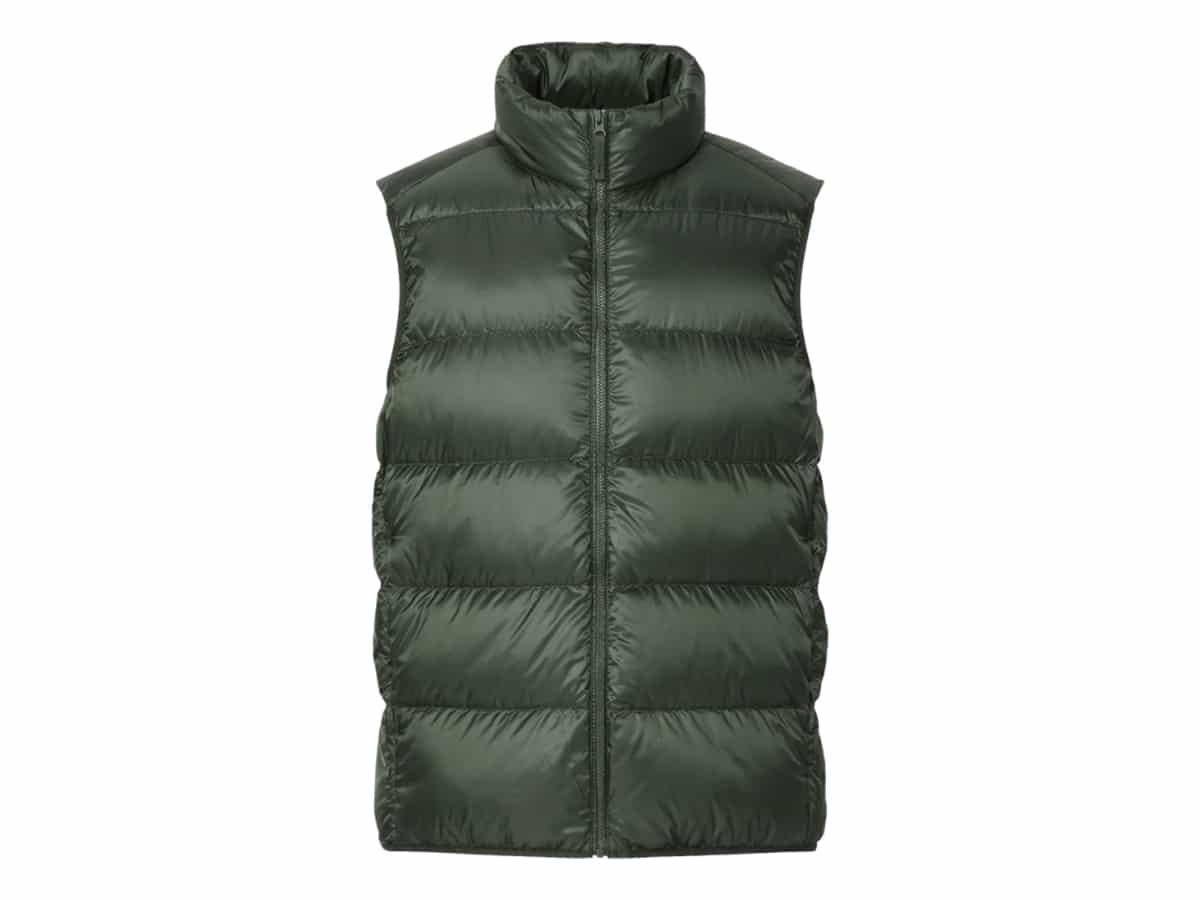 Uniqlo mens ultra light down vest png