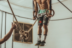 A man working out at a gym