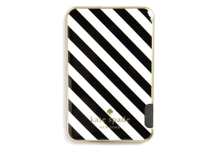 kate spade black and white stripe