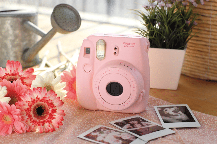 fujifilm pink mini camera