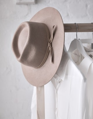 assembly label voucher white shirt and hat