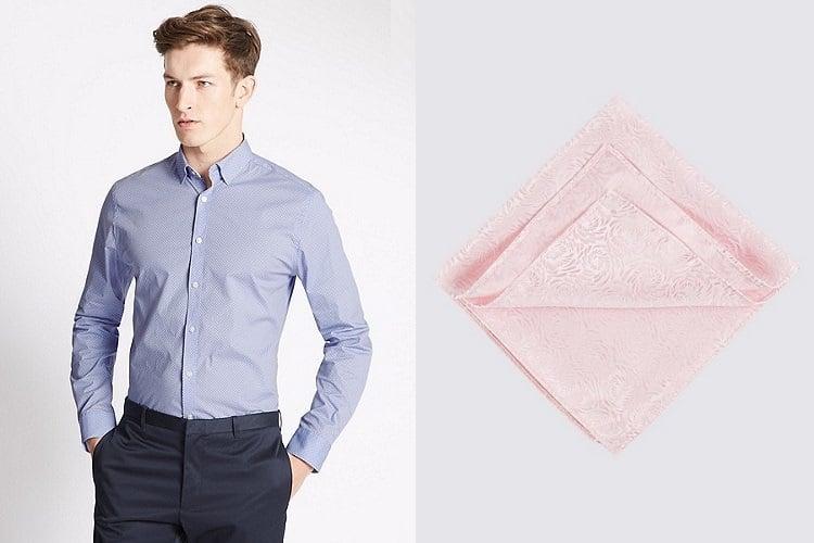 melbourne cup shirt pocket and pocket square