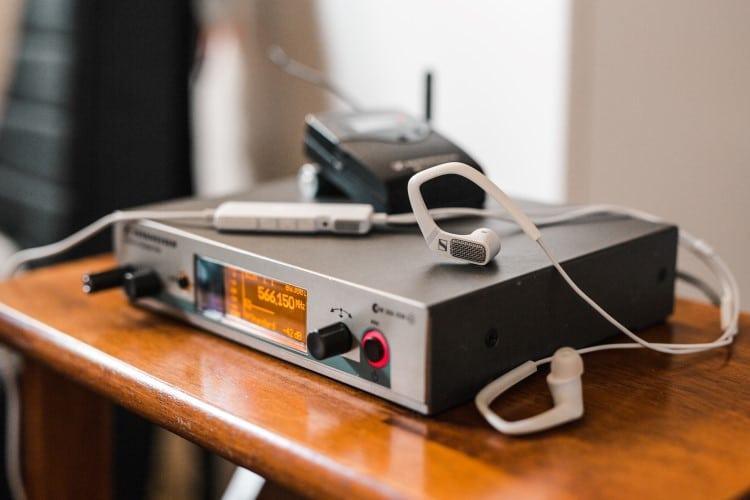sennheiser ambeo smart headset on the table