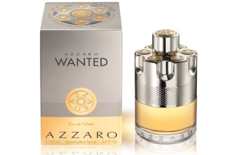 azzaro wanted fragrance bottle and packet