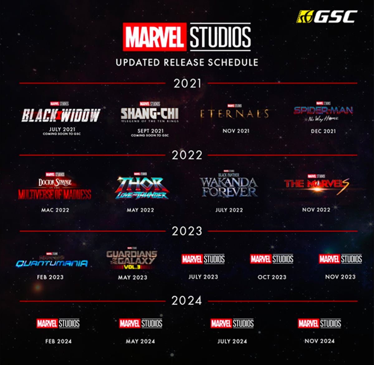 1 upcoming marvel movies release schedule