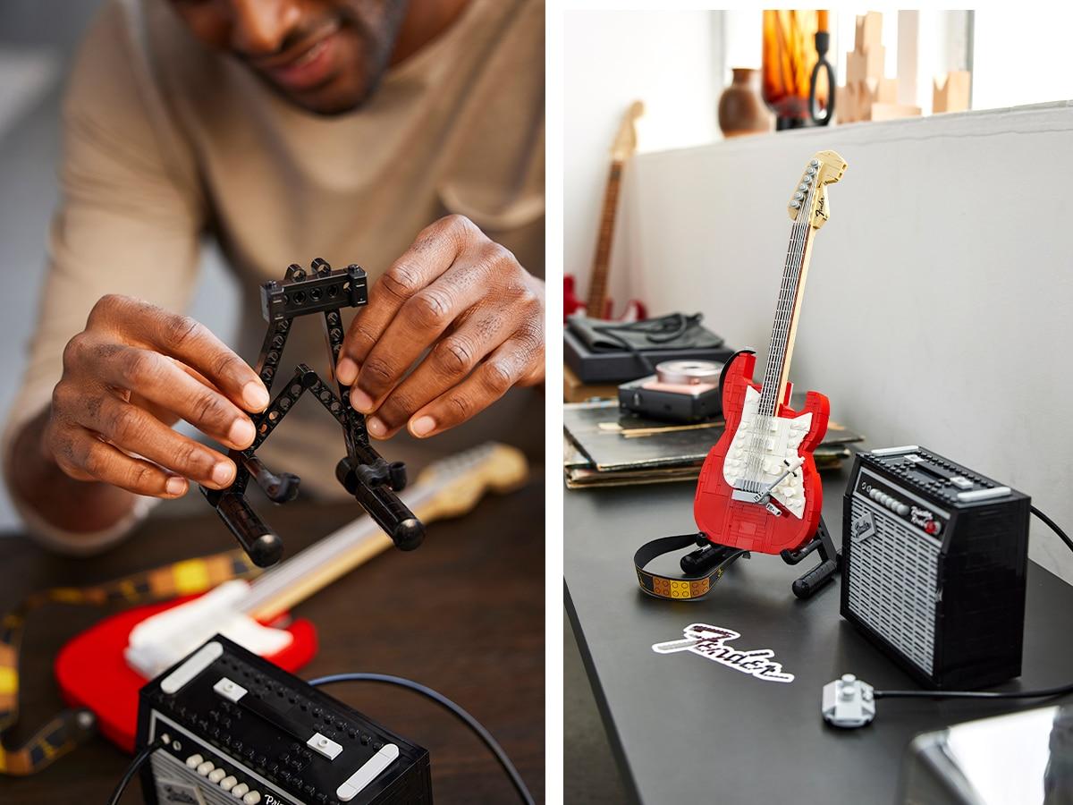 2 lego ideas fender stratocaster set