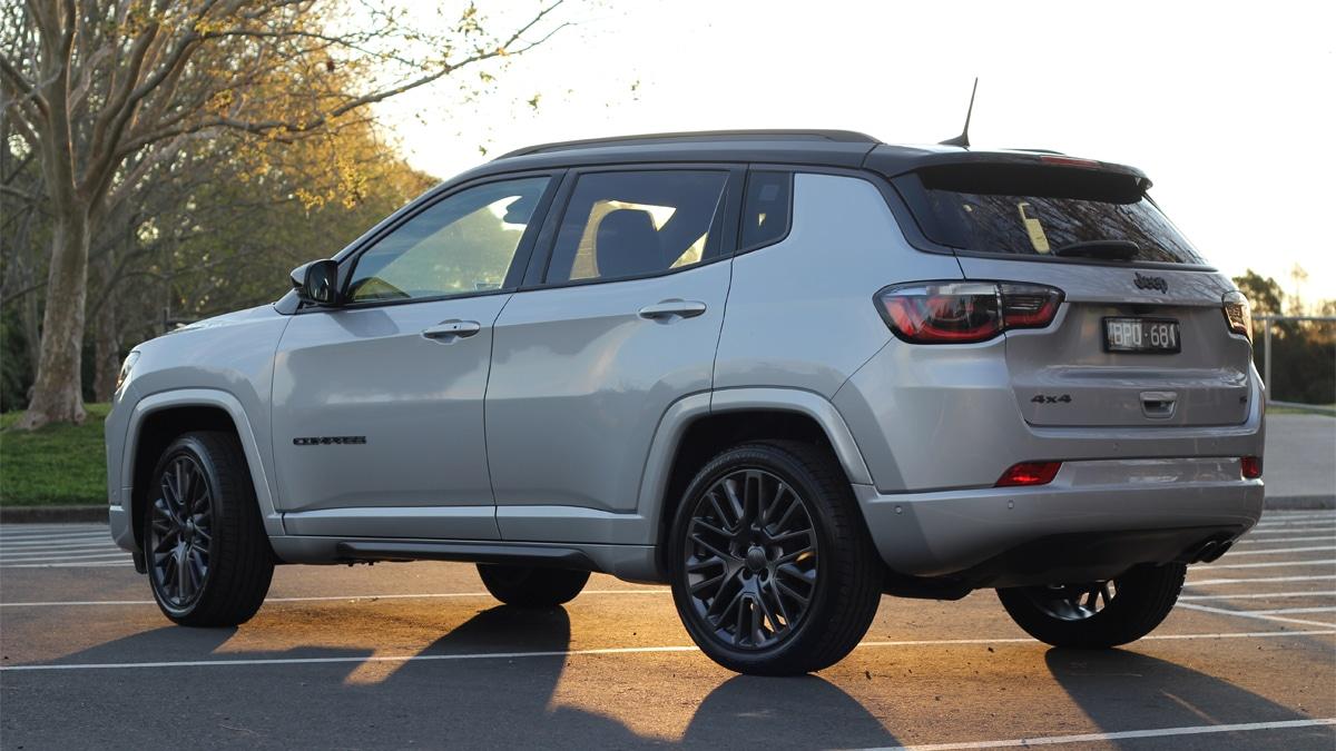 2022 jeep compass rear side angle