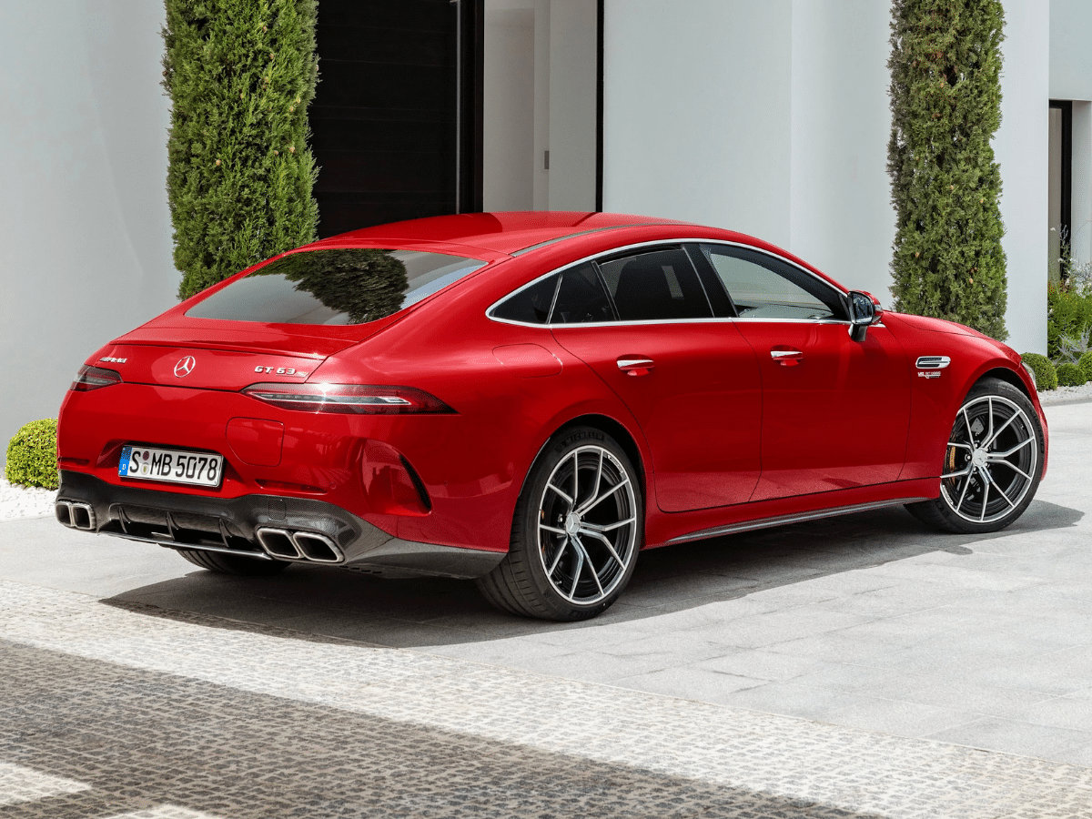 2022 mercedes amg gt63 s e performance side on