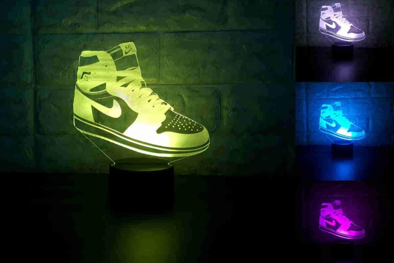 sneakers 3d lamp table nightlight 7