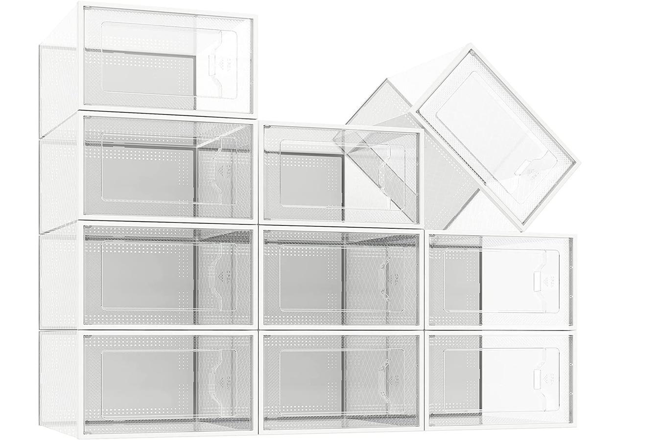 tukku 10 pack x large size shoe storage boxes