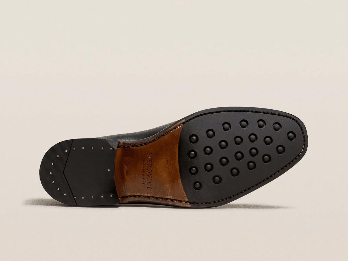 Appelviken black calf half rubber sole