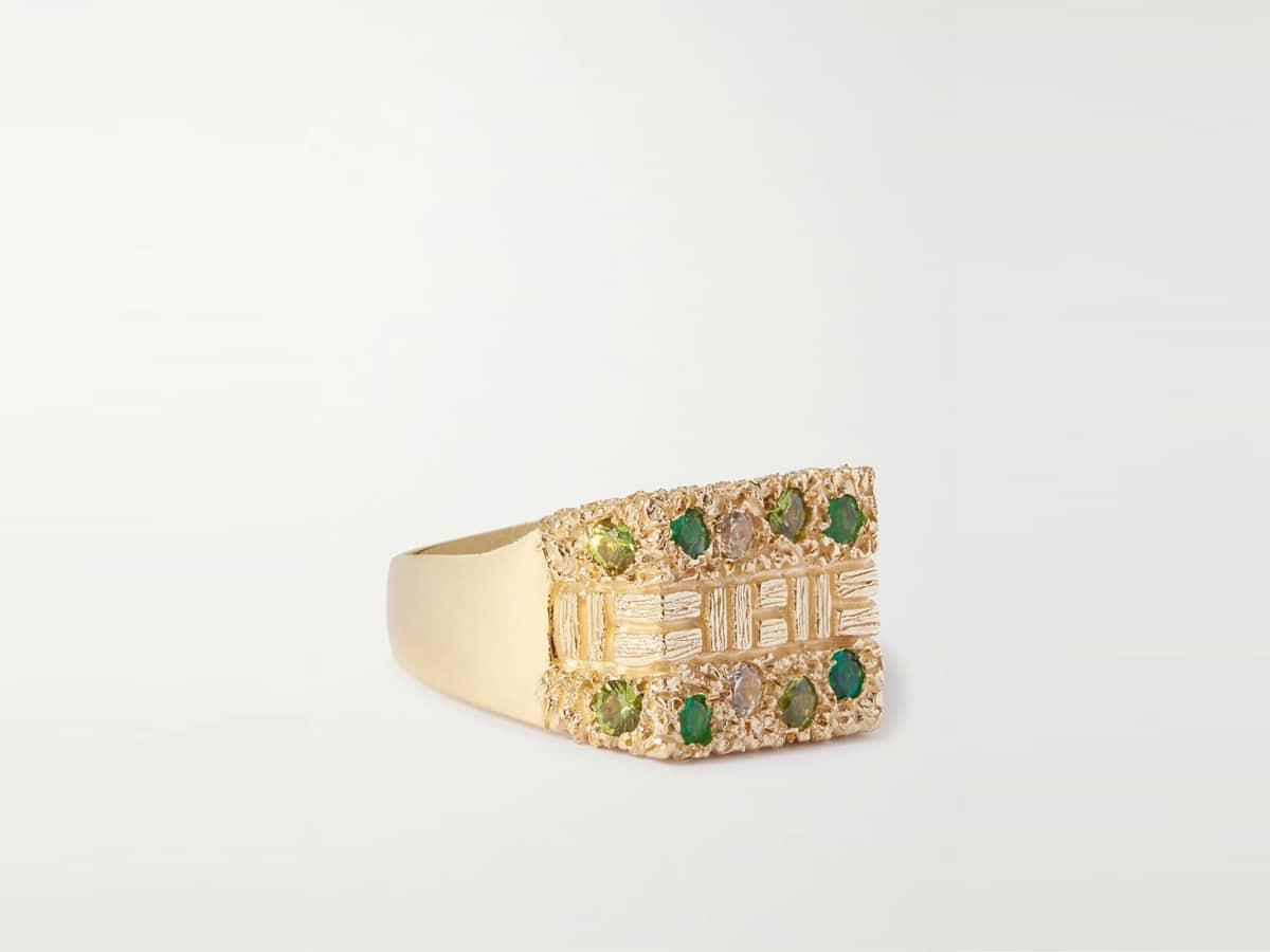 Bleue burnham sissinghurst 9 karat gold signet ring