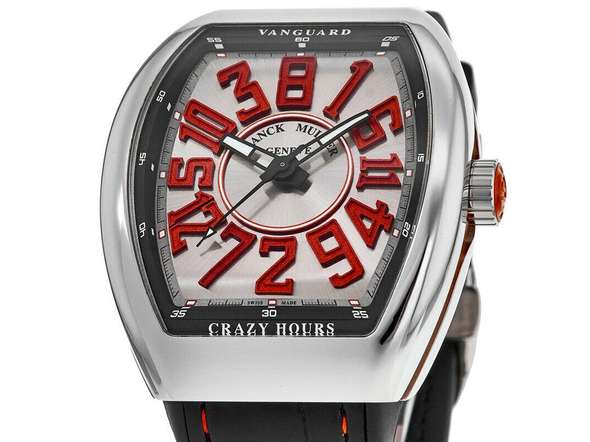 Franck muller vanguard crazy hours silver red