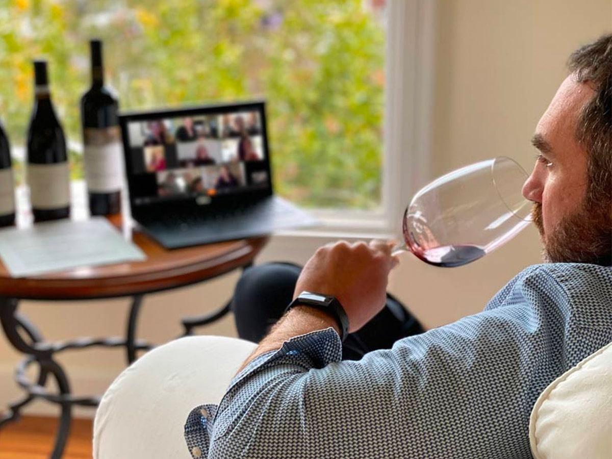 Grant burge virtual wine tasting