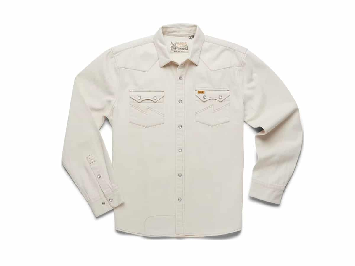 Howler brothers dust up denim snap shirt