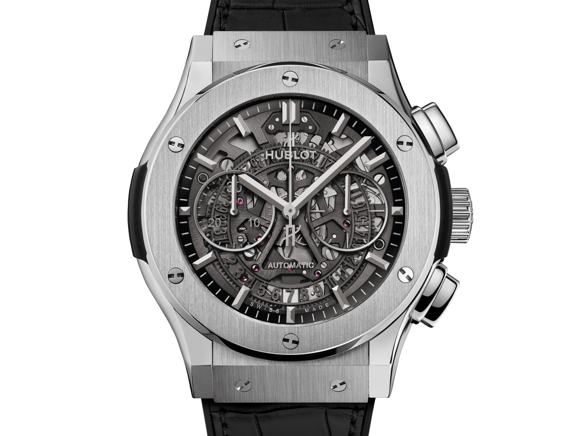 Hublot classic fusion automatic skeleton dial mens watch 525nx0170lr