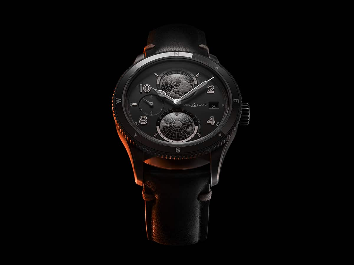 Monblanc 1858 geosphere ultrablack limited edition front