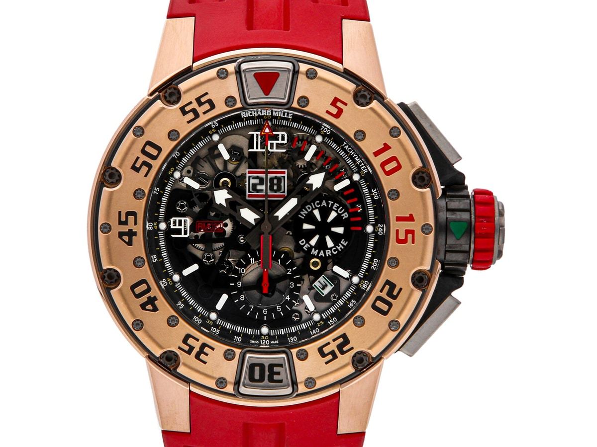 Richard mille rm 032 flyback chronograph diver auto gold