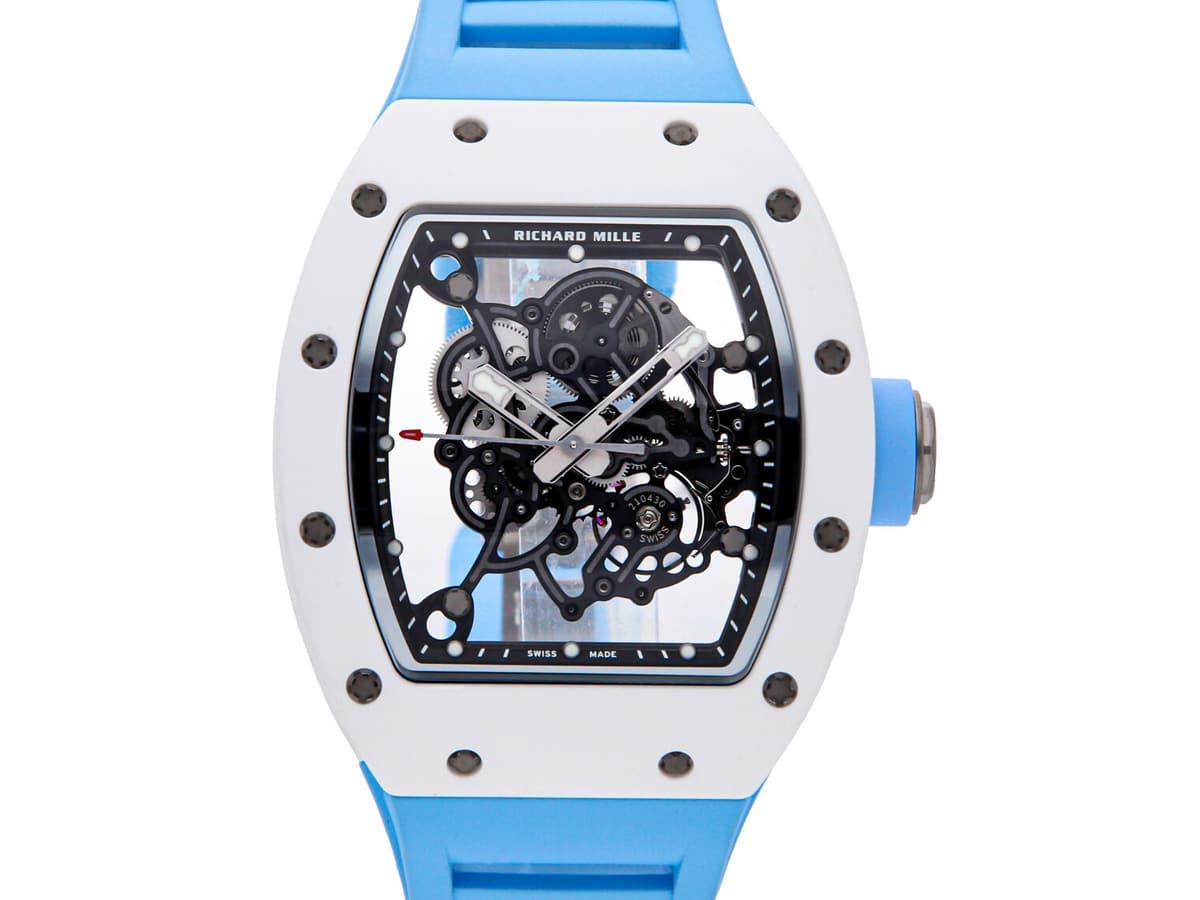 Richard mille rm 055 manual ceramic mens strap watch