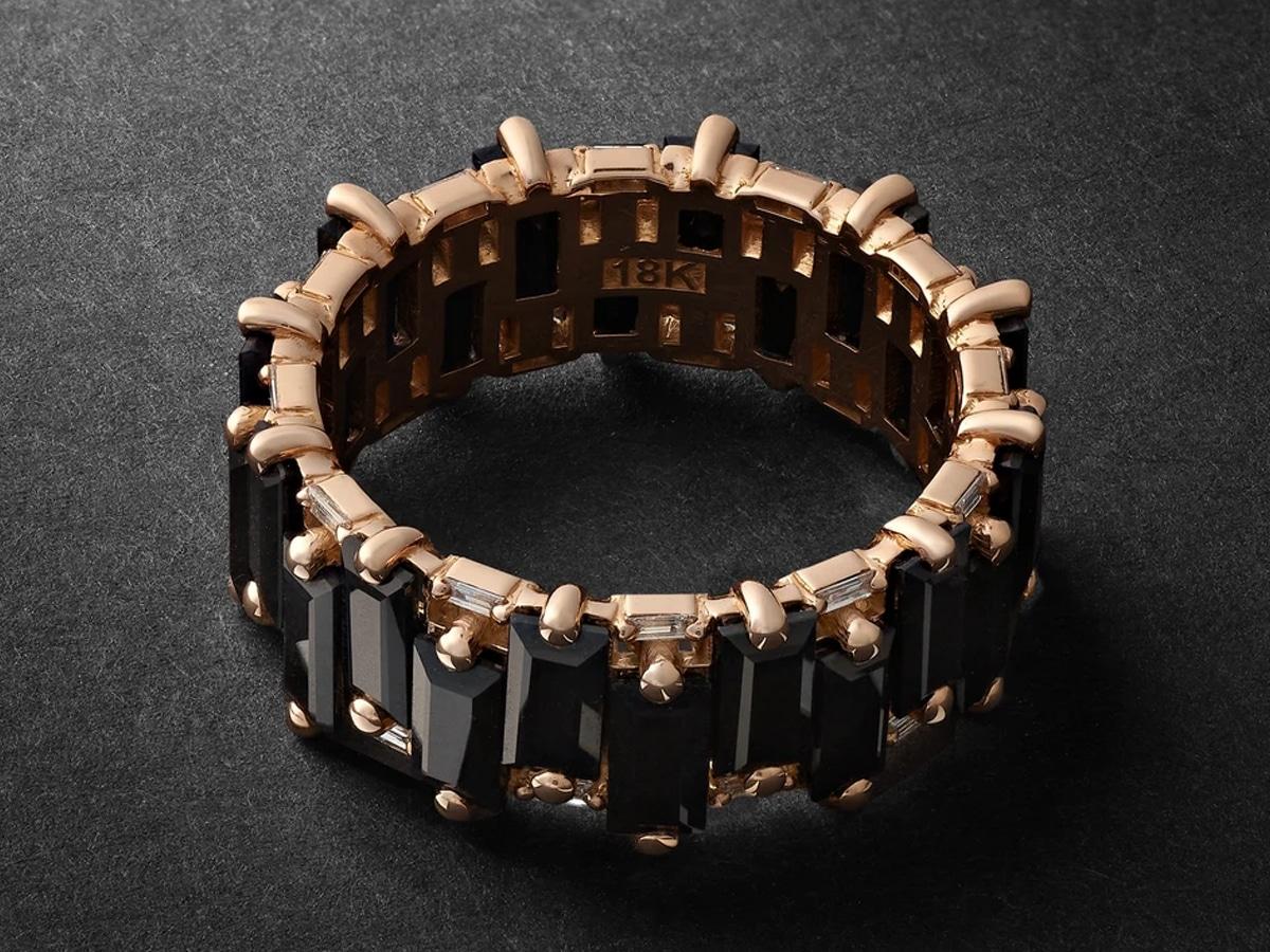 Suzanna kalan rose gold sapphire and diamond ring