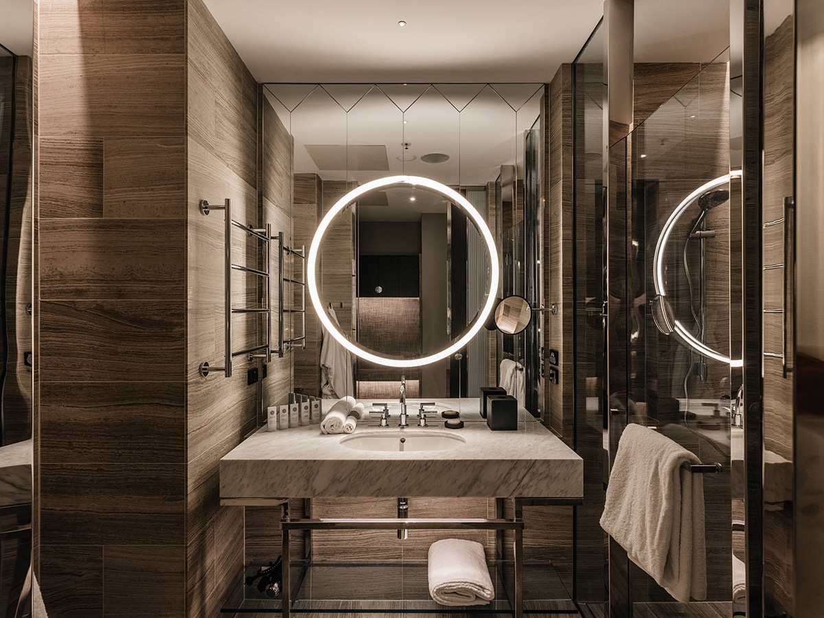 The luxury collection by marriott international powderroom