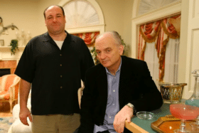 David Chase and James Gandolfini