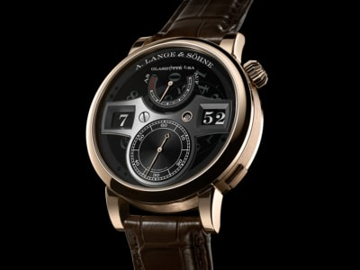 "$195,000 A.Lange & Söhne Zeitwerk Honeygold ""Lumen"" Fuses Historic Innovations"