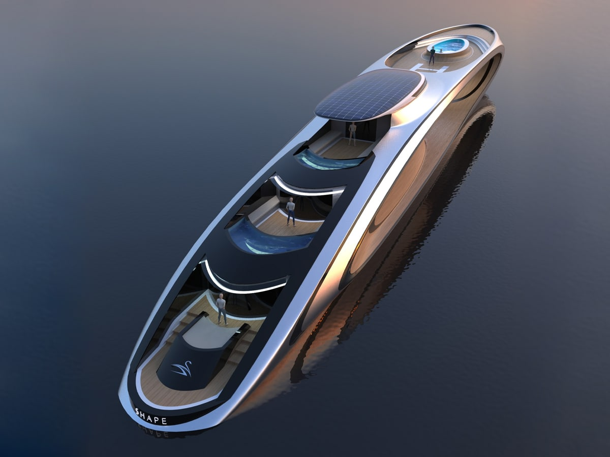 5 lazzarini shape superyacht concept
