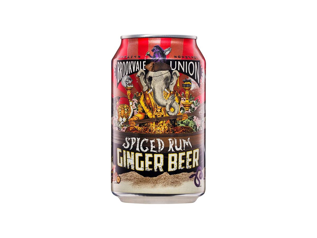Brookvale union spiced rum ginger beer