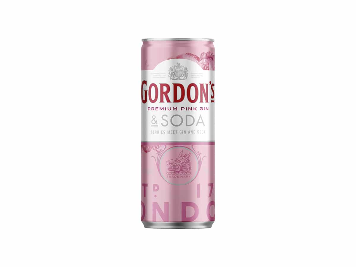 Gordons premium pink gin and soda