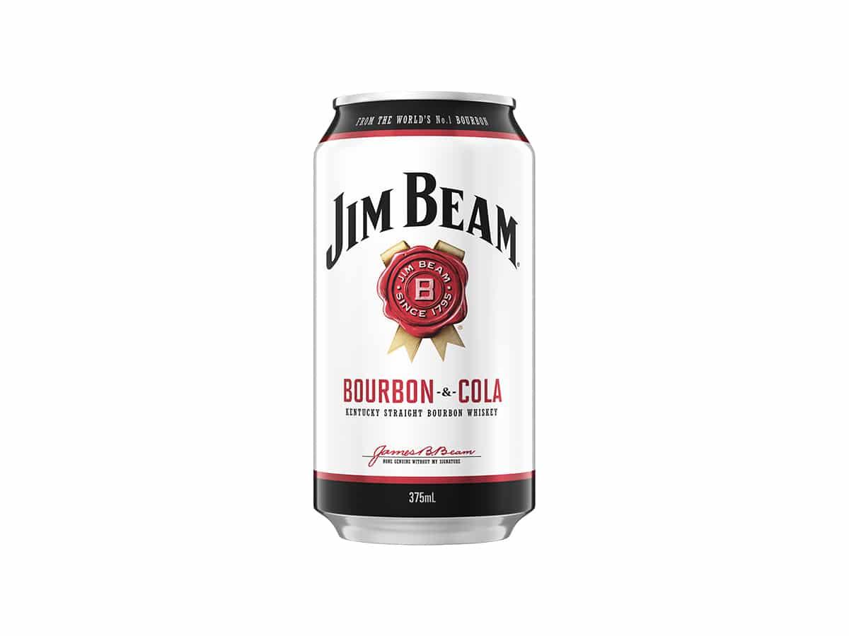 Jim beam white label bourbon and cola