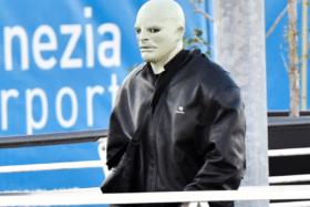Kanye west white face mask