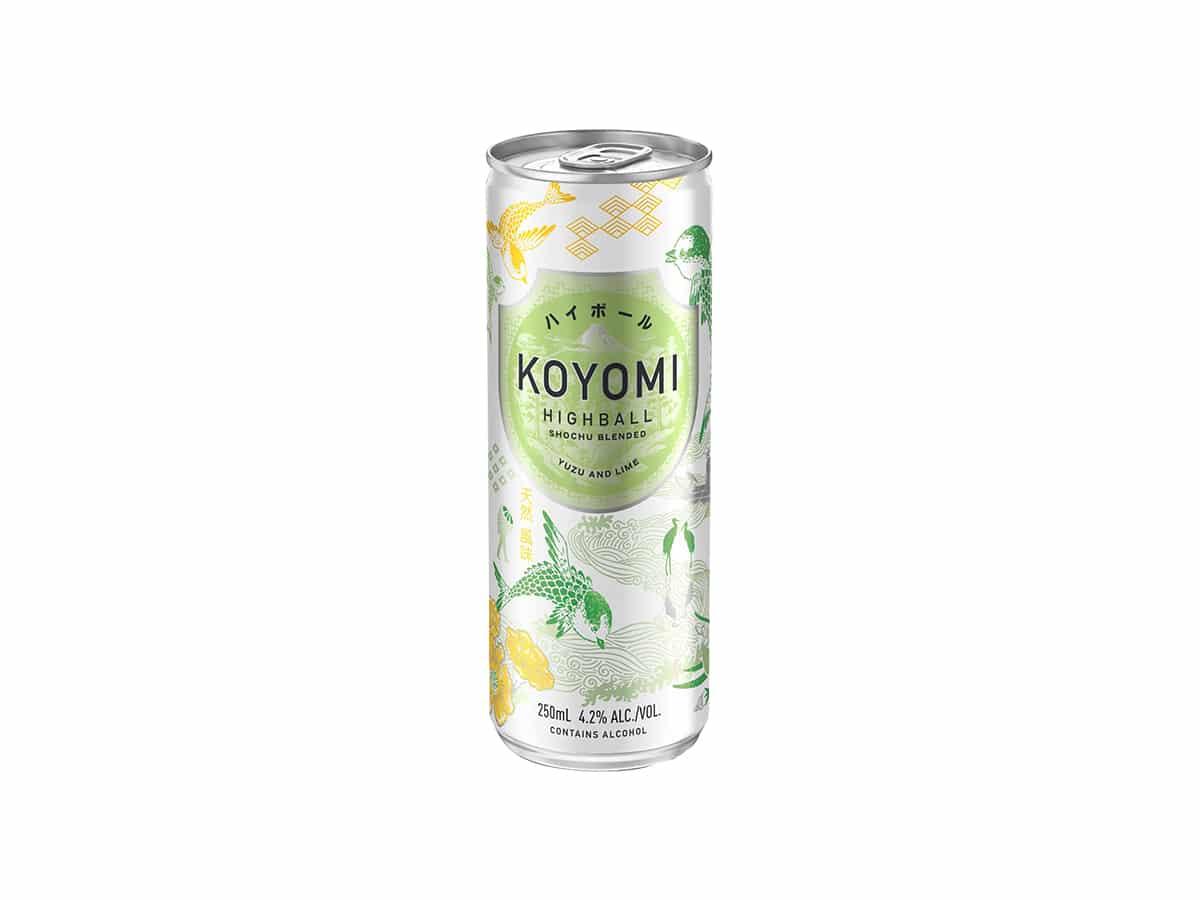 Koyomi shochu blended yuzu nd lime highball