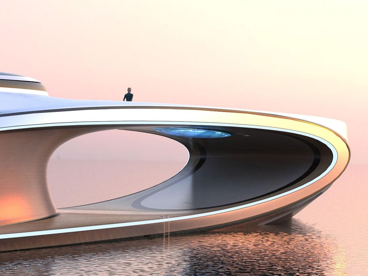 Lazzarini shape superyacht concept